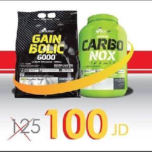 Gain bolic 6000 7kg + Carbo NOX عرض خاص…