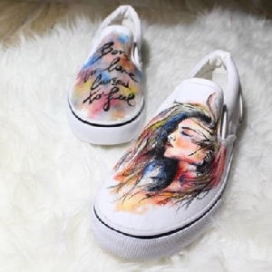 For sale Custom Hand Painted Shoes - Born…