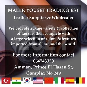 Artificial Leather Importer in Amman, Jordan…