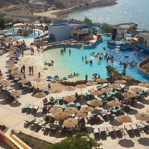 Al Wadi Water Park in Dead Sea , Jordan…