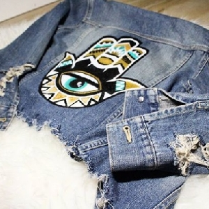For sale Custom Hand Painted Denim Jeans…