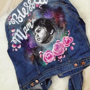 For sale Custom Hand Painted Denim Jeans…