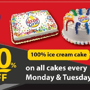 30% off on all cakes every Monday & Tuesday…