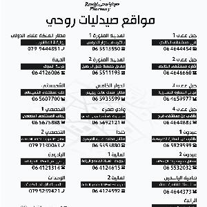 Rawhi Pharmacy ارقام هاتف صيدليات…