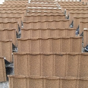 Stone coated metal roof tile 0599666664…