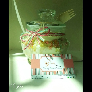 Confetti birthday cake jar